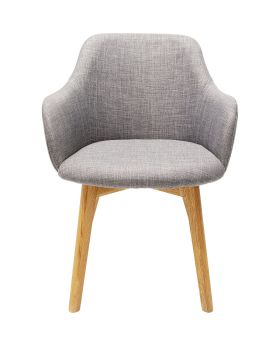 Chair with Armrest Lady Grey
