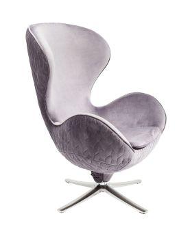 Swivel Chair Lounge Leaf Grey