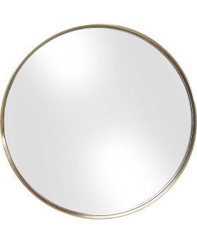 Mirror Curve Round Brass 60cm