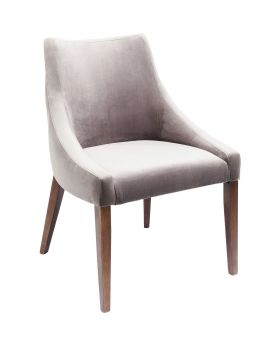 Chair Mode Velvet Grey