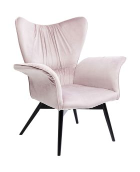 Armchair Black Wall Street Mauve