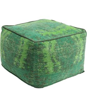 Pouf Kelim Ornament Green