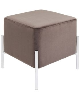 Stool Franzi Brown Silver 37x37cm
