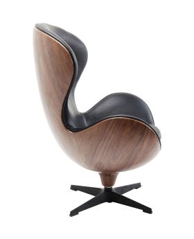 Swivel Chair Loung Black Walnut