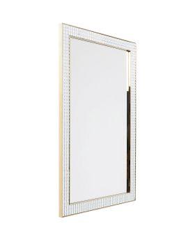 Mirror Crystals Steel Gold 120x80cm