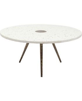 Coffee Table Terrazzo White Ø92cm