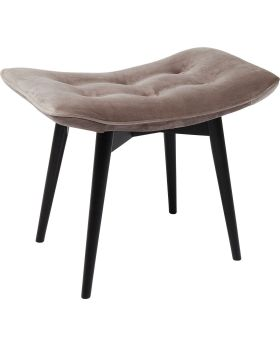 Stool Black Vicky Velvet Grey