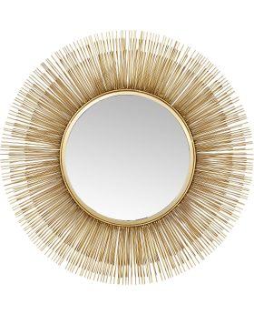 Mirror Sunburst Tre Gold 87cm