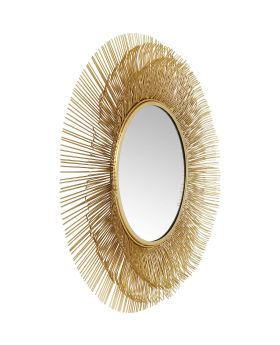 Mirror Sunburst Tre Gold 87cm