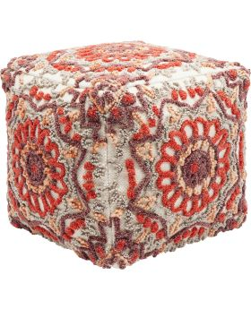 Pouf Arabian Flower Reddish