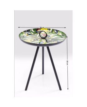Side Table Jungle Parrots 39cm