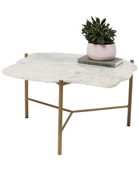 Coffee Table Piedra White 76x72cm