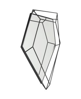 Mirror Wire Diamond Schwarz 104x92cm