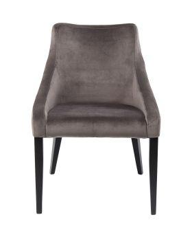 Chair Black Mode Velvet Grey