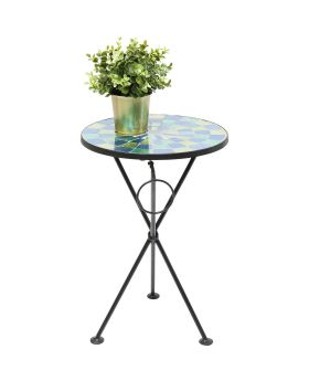 Side Table Clack Mosaic Blue Green 36cm
