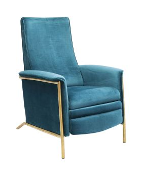 Relax Chair Lazy Velvet Blue
