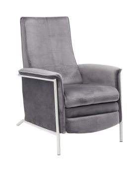 Relax Chair Lazy Velvet Grey