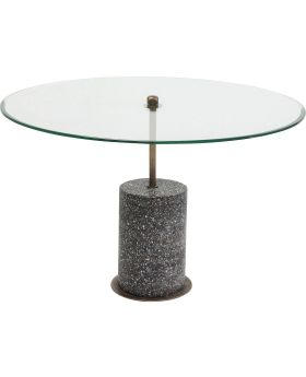 Coffee Table Terrazzo Visible Black  47cm