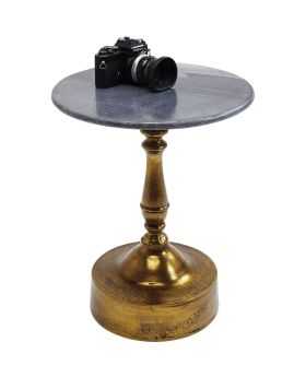 Side Table Souk Black Marble 51cm