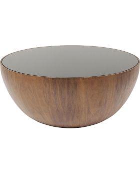 Coffee Table Tear Drops Walnut 80cm