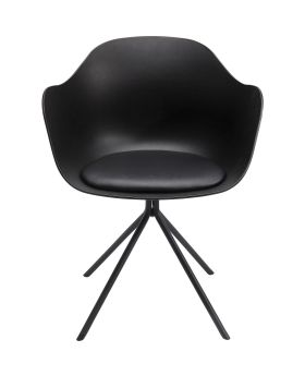 Dining Chair With Armrest Bel Air Black