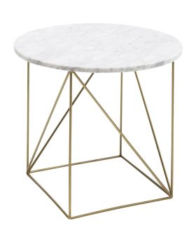 Side Table Key Largo White 40cm
