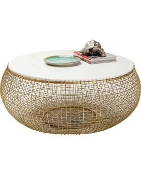 Coffee Table Cesta Marbel Gold 100cm
