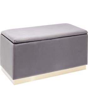 Bench Cherry Storage Grey Black 80cm