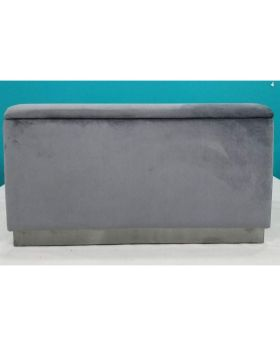 Bench Cherry Storage Grey Black 120cm