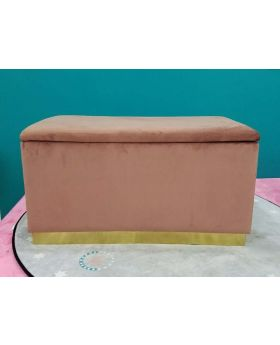 Bench Cherry Storage Mauve Brass 80cm