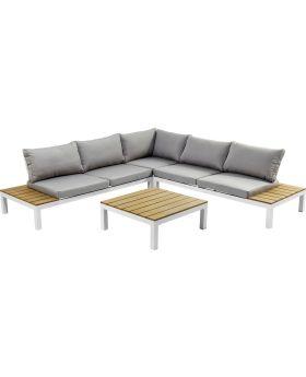 Outdoor Sofa Set Holiday White (4Pieces)