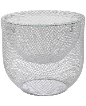 Coffee Table Grid Silver O/50Cm