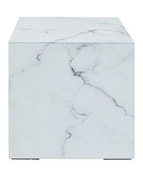 Side Table Luxury Marble 45X45Cm,Grey
