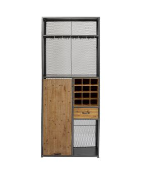 Vinoteca Bar Shelf, Grey/Wood