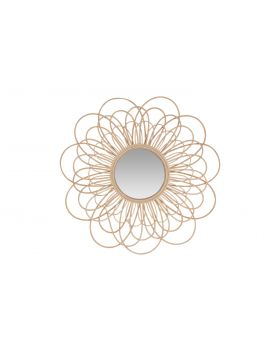 RATTAN FLOWER MIRROR NATURAL RATTAN