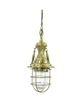 HIX BRASS PENDANT LAMP,GOLD (EXCLUDING BULB AND SOCKET)