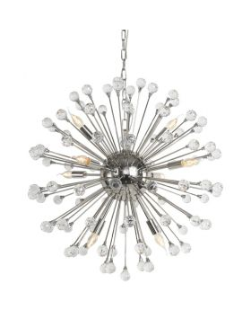Aveiro Nickel Pendant Lamp,Silver (Excluding Bulb And Socket)