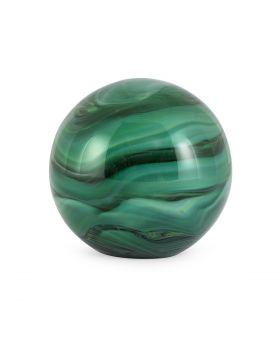 DECORATIVE BALL GLASS MALAKI D10GREEN