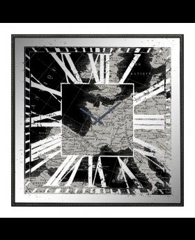 WALL CLOCK     'EUROPE' 80x80x8