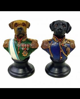 S/2 Boxer&Labradorhead 21H Blue/Green