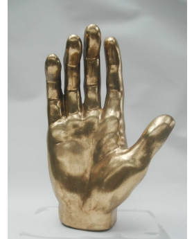 HAND IN ANT.GOLD RESIN 35h