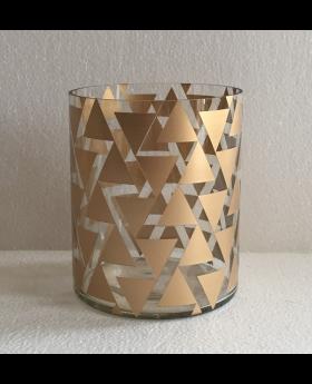 Glass Cyl.Hurricane Gold 'Triangular'