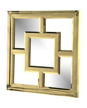 KUBE GOLD FINISH MIRROR,GOLD