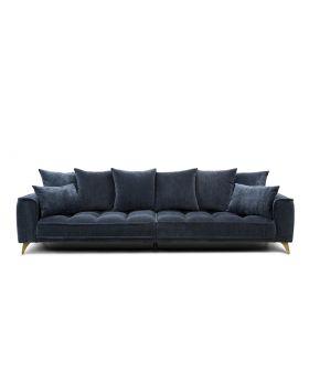 Belavio 4 Seatersofa ,Dark Blue-Grey,Fab