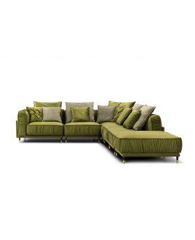 Bellisa Corner Sofa,Green-Olive,Fab