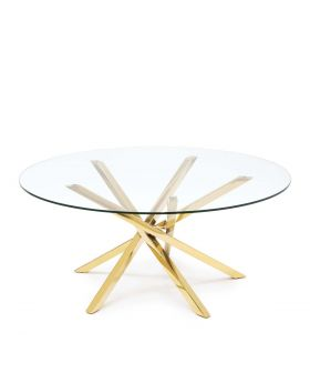 ILA COFFEE TABLE H45 D100,GOLD