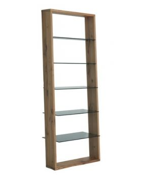 PORTOFINO BOOKSHELF SOLID WILDOAK W/GLAS