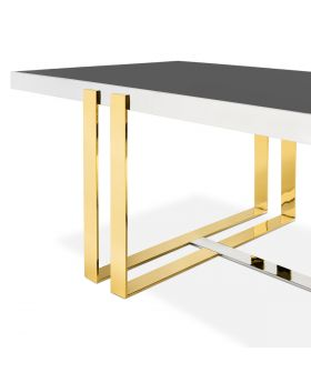 VIM DININGTABLE H76 210X100,CHROME/GOLD