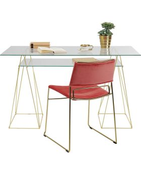 Table Polar 8 Mm Brass Matt Temp Glass
