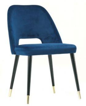 CAP DININGCHAIR W/ALUCAP LEG,DK BLUE,FAB
